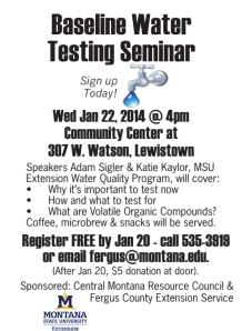 A seminar on baseline water testing will be held in Livingston on January 22. (click to enlarge)
