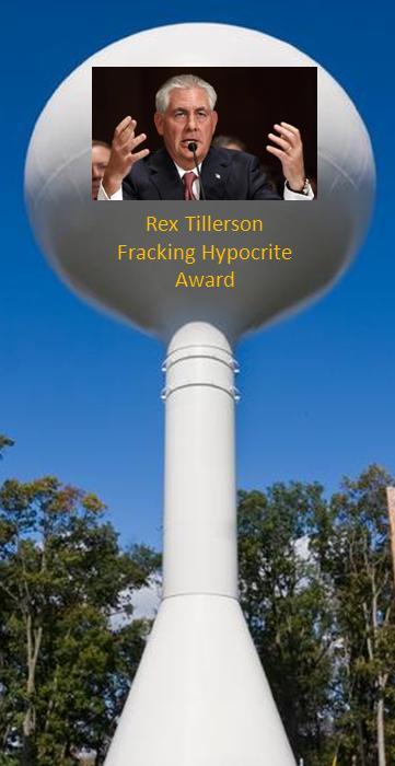 Rex Tillerson Fracking Hypocrisy Award