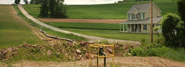 A scene from the Marcellus Shale. Photo credit Terry Wild