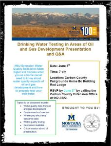 Water testing seminar. Click to enlarge