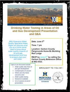 Water testing seminar. Click to enlarge