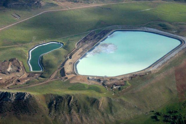 The Hertzler Tailings Pond in Nye