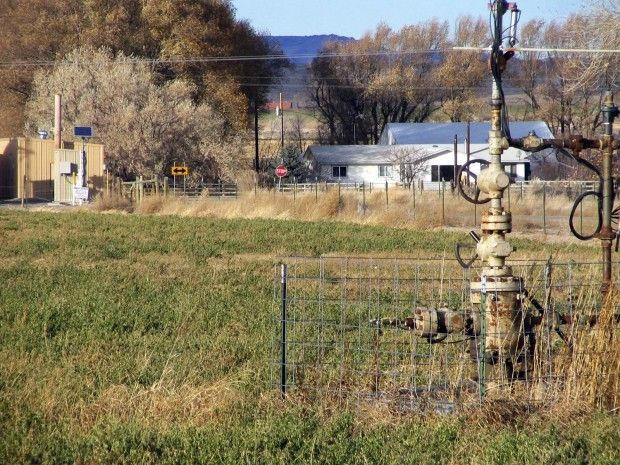A wellhead left behind in Paviilion. Casper Star-Tribune photo