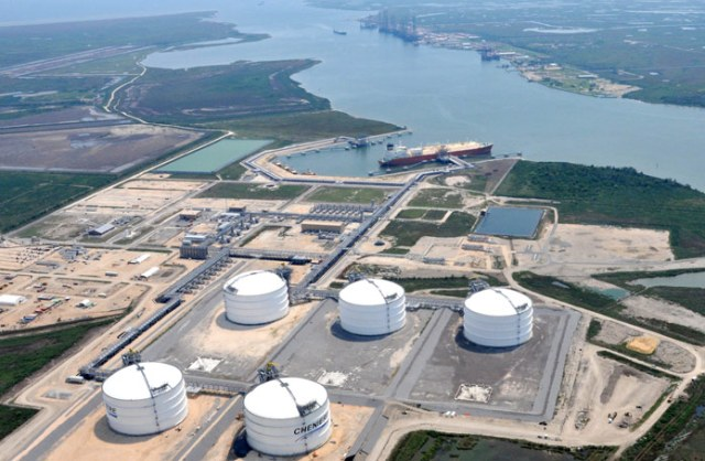 A view of the Cheniere Energy site in Cameron Parish, La., where the company now plans to add a liquefaction-for-export complex in addition to its current LNG receiving terminal.