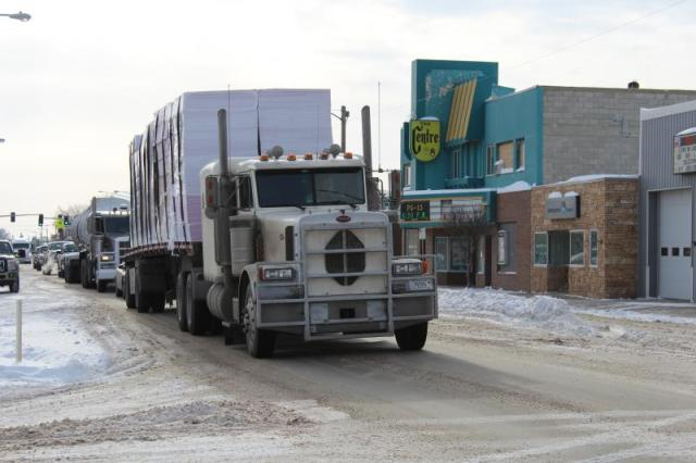 Central Avenue in Sidney is inundated with truck traffic.