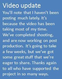 Video update 070114