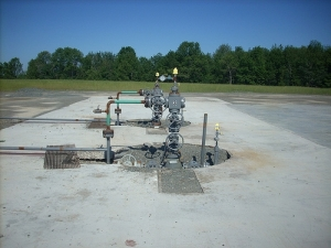 Marcellus Shale gas well.  Courtesy of Gerry Dincher