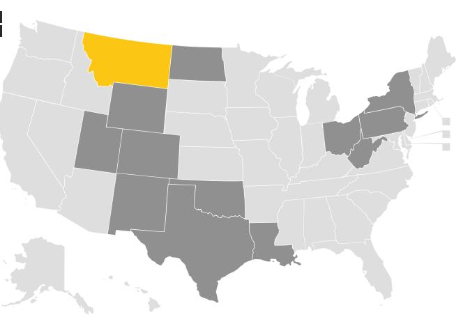The State Of Montana Provides Insufficient Regulatory Support For - Montana us map