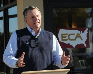 "John Mork, CEO of ECA, promised to ""bring the Bakken to the Beartooths."" Photo by Larry Mayer, Billings Gazette"