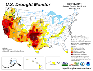 Drought conditions 2014. Click to enlarge