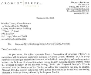 Mike Dockery letter. Click to download full letter.