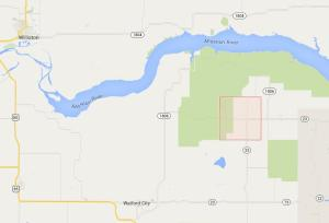 The spill occurred a mile northwest of Keane Township in McKenzie County. Click to see on Google Maps