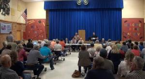 Public meeting at Belfry School, September 2014