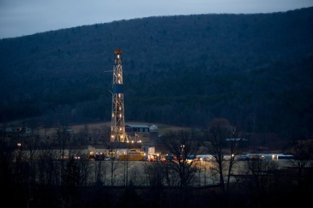 A well in Bradford County, PA. Photo: Reuters