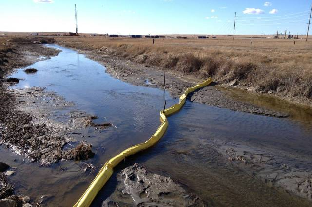 This spill near Williston released nearly three million gallons of produced water onto surrounding farmland. Photo: Chester Dawson, Wall Street Journal