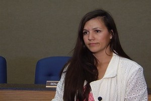 Jessica Sena, representing the Montana Petroleum Association, opposes any setback regulations. Photo: KTVQ.com