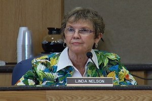 Linda Nelson, BOGC Chair, at the hearings last week. Photo: KTVQ.com