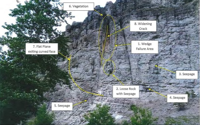 Stillwater River Road rockslide photo1
