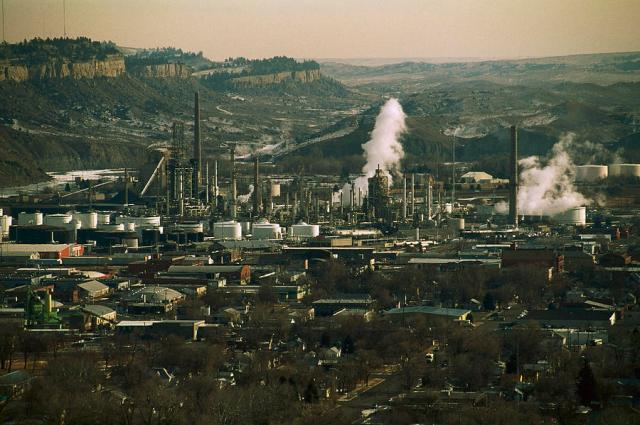 ExxonMobil's Billings refinery has been in operation for the last 65 years. Photo: Gordon Wiltsie