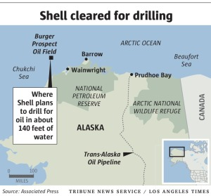 Location of Shell permits. Click to enlarge