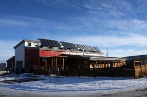 Solar installation at Red Lodge Ales